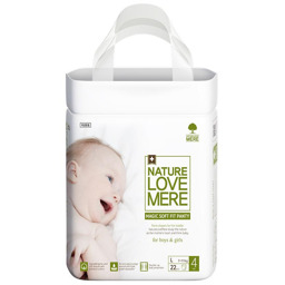 Подгузники-трусики детские Nature Love Mere, серия MAGIC SOFT FIT, размер L, 22 шт [7-11 kg]